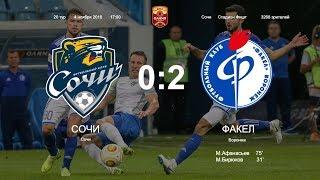 Сочи - Факел 0:2 Обзор матча Чемпионата ФНЛ 2018/2019. 20-й тур.