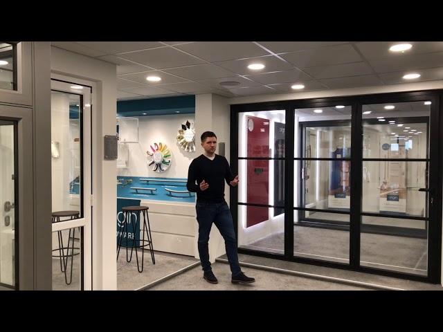 Cherwell Windows showroom tour - Origin aluminium bifold door