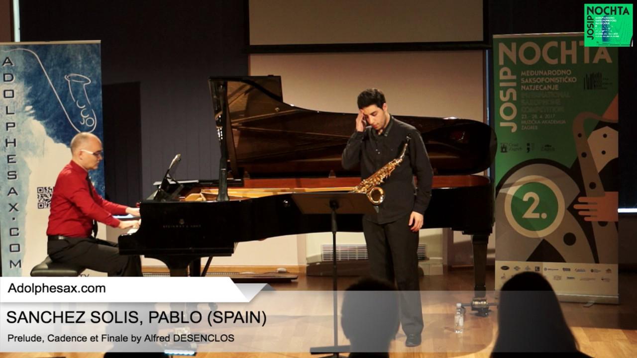 Prelude, Cadence et Finale by Alfred Desenclos – SANCHEZ SOLIS, Pablo (Spain)