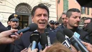 Ancona, punto stampa del Presidente Conte in Prefettura