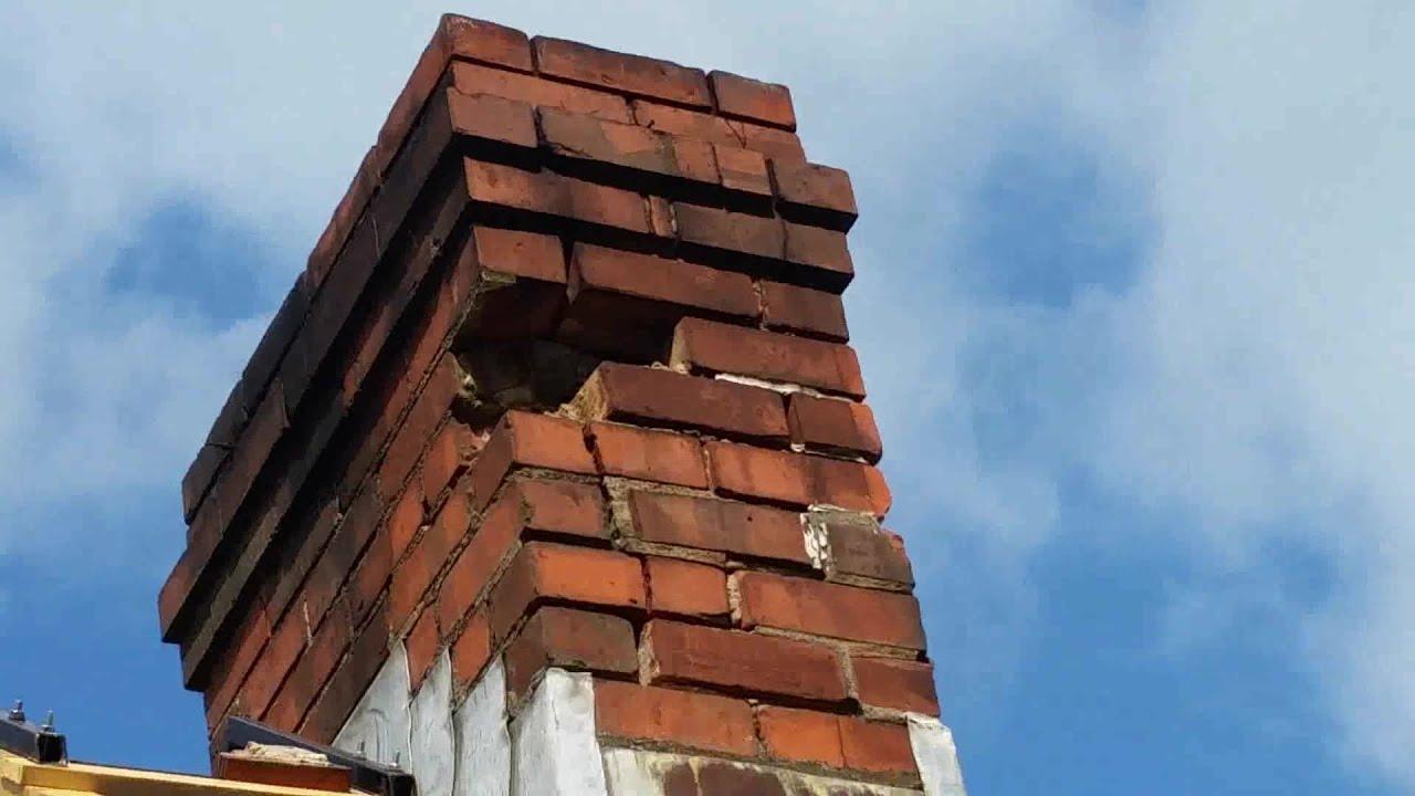 Brick repair on chimney DIY  YouTube