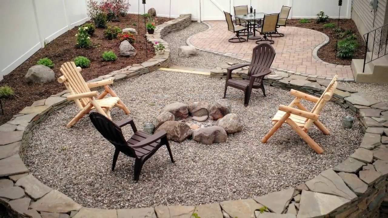 Building a Backyard Patio and Firepit - YouTube on Backyard Patio With Firepit id=79456