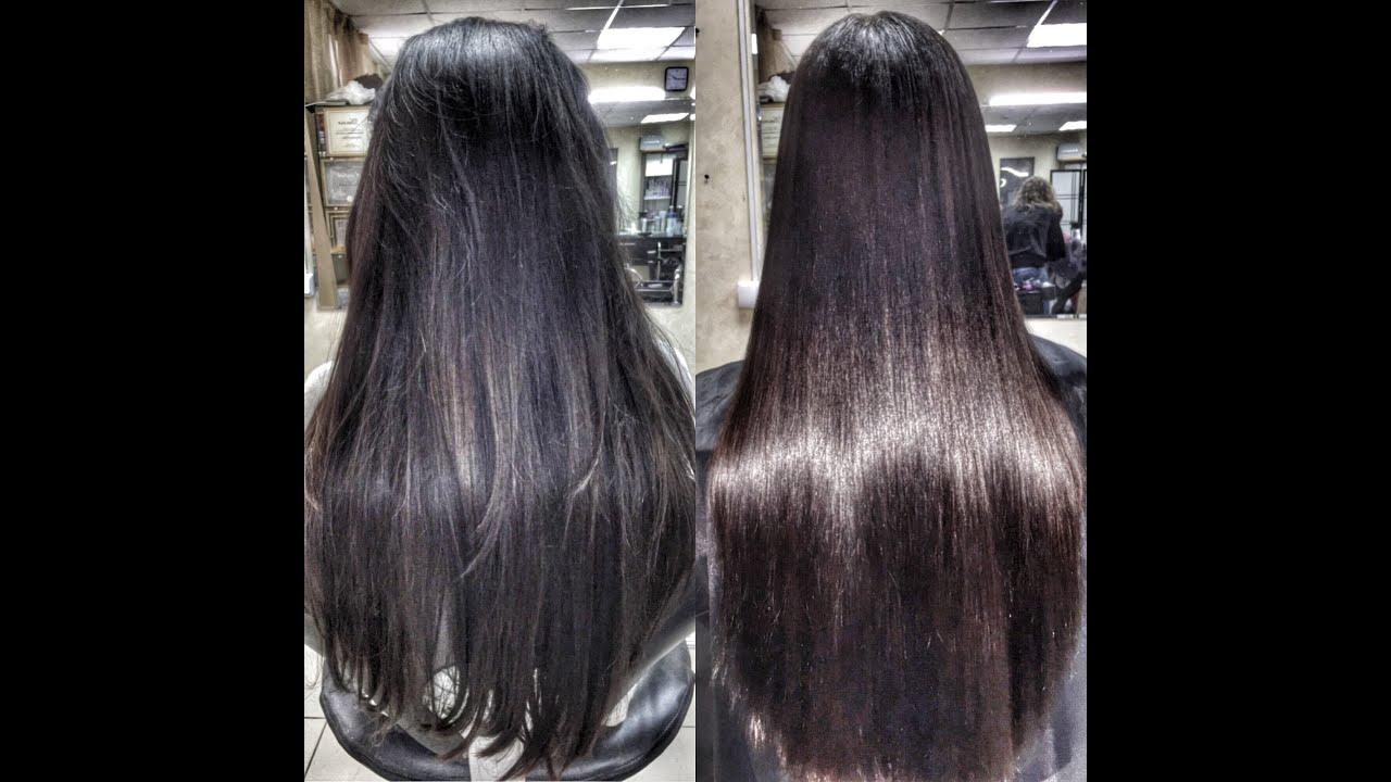 фото кератиновое выпрямление волос