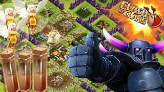 All Earthquake spells COC Clash of Clans Unique Attack Strategy