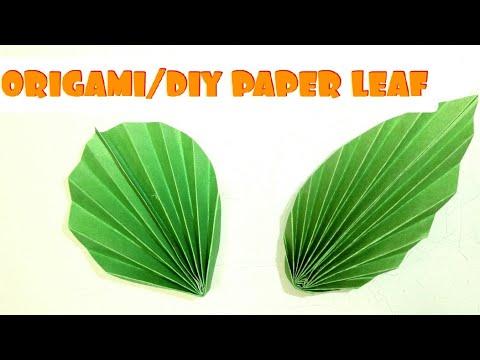 🌿TWO DIY PAPER LEAVES MAKING ( EASY TUTORIAL) || EASY CRAFT || ORIGAMI