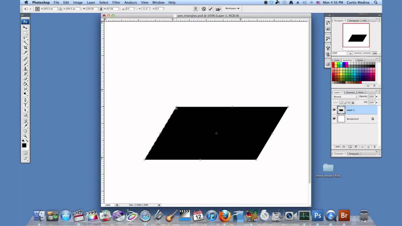 How To Make A Parallelogram In Shop Using Adobe Shop
