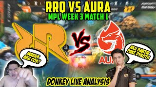 RRQ VS AURA! LEMON IS BACK!! DONKEY CAST SAMBIL MABUK!!!
