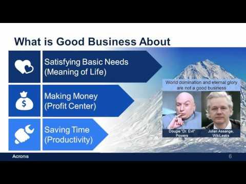 Keynote Acronis CEO, Serguei Beloussov at VIP Summit in Munich (with slides)