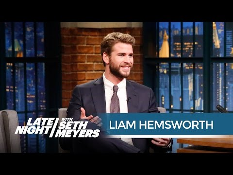 "Liam Hemsworth: Jennifer Lawrence Is ""Terrible at Walking"" - Late Night with Seth Meyers"