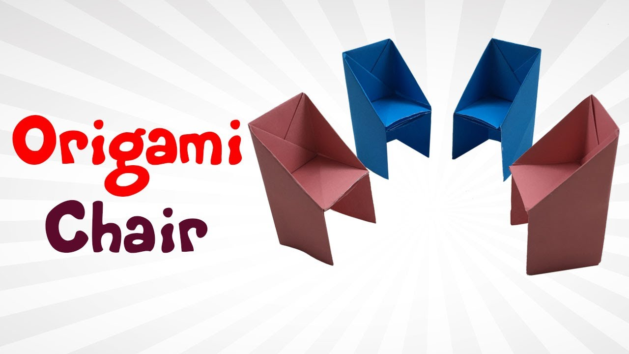 How To Make an Origami Chair   Easy Paper Chair For KIDS ...