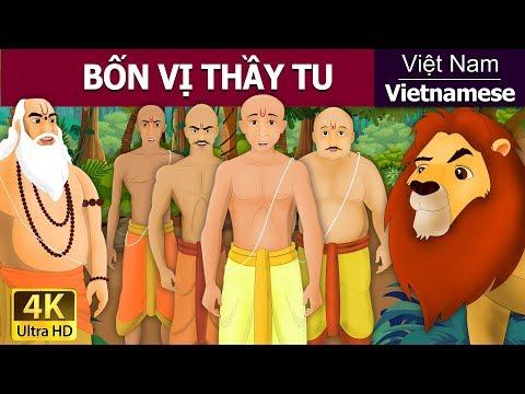 Bốn vị thầy tu - chuyen co tich - truyện cổ tích - 4K UHD - truyện cổ tích việt nam