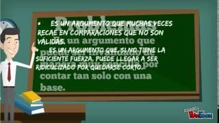 TIPO DE ARGUMENTACIÓN POR ANALOGÍA