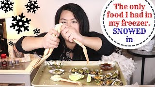 Snow Crab and Mussels Mukbang