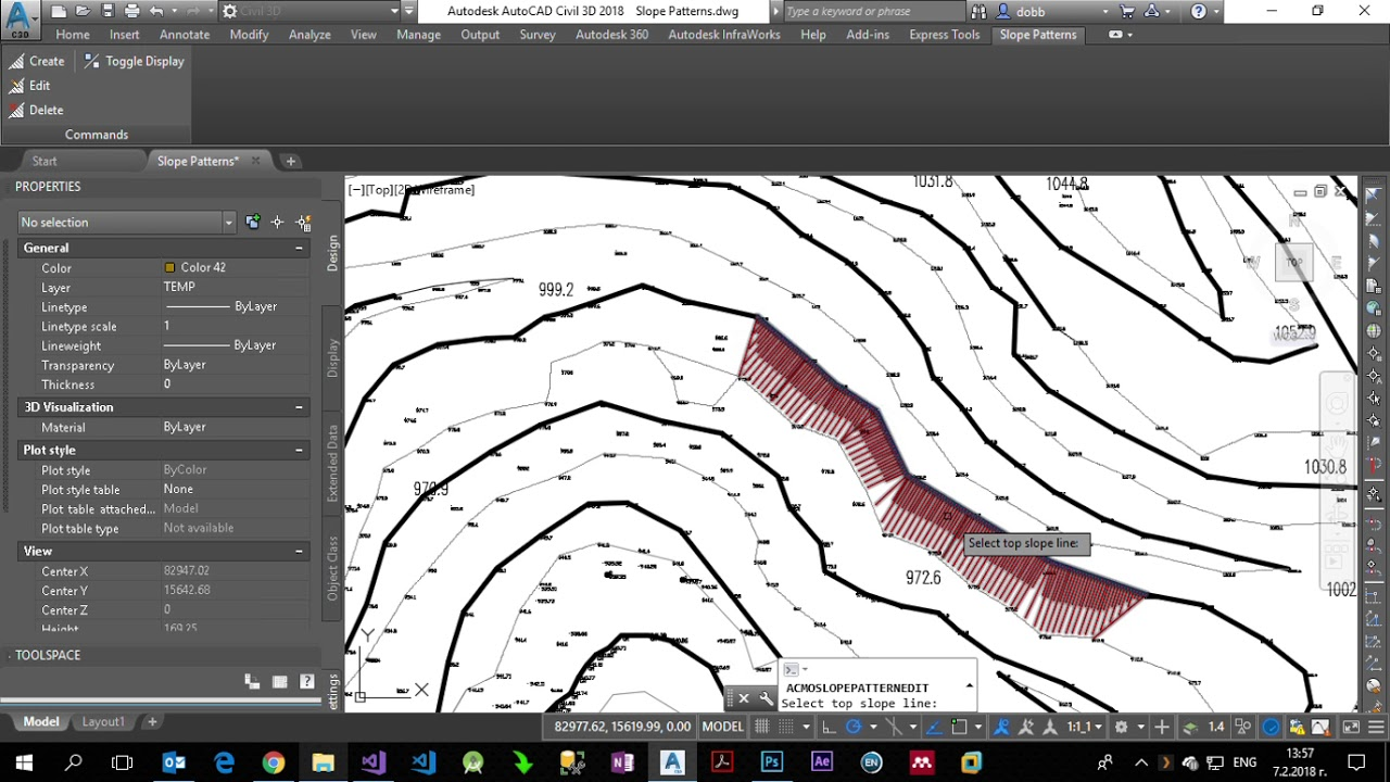 how to draw slope in autocad