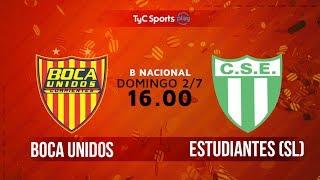 Boca Unidos vs Sportivo Estudiantes full match