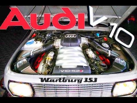 wartburg 353 1 with audi v10 5 2 engine youtube. Black Bedroom Furniture Sets. Home Design Ideas
