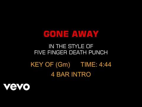 Five Finger Death Punch - Gone Away (Karaoke)