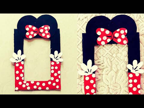 Minnie Mouse Picture Frame // Photo Frame From Waste Card Board // Kids Party Decor Ideas // DIY //