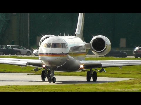 Beautiful German Air Force 14+01 - Bombardier BD-700 at RAF Northolt - London