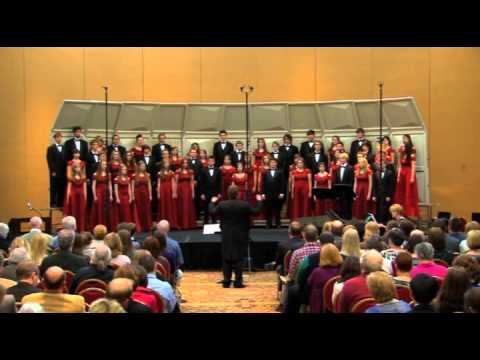 Loveland High School Chamber Choir performing The Stars Stand Up in the Air