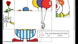 Funny Clown with balloons for children - You so Zany - funny puzzle and song