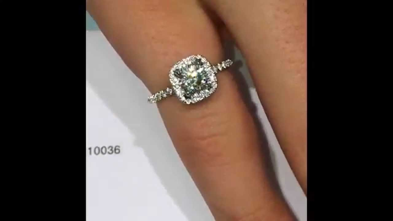 in square diamond ring rings edged halo watch engagement youtube round