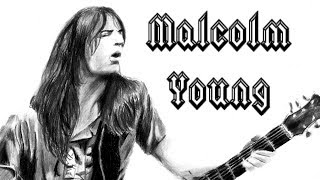 Drawing Malcolm Young (R.I.P 1953-2017) | AC/DC Tribute