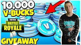FREE 10,000 V-BUCKS GIVEAWAY! Fortnite Battle Royale - Fortnite V-Bucks Glitch
