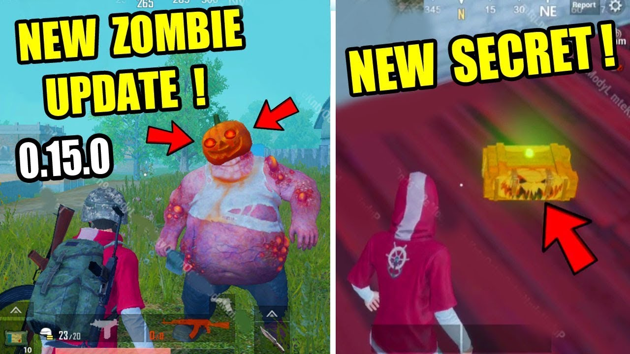PUBG MOBILE New Halloween Zombie mode Update ! New Secret Tips And Trick !