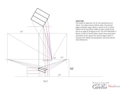Engineering Drawing Tutorials/Perspective drawings with front and
