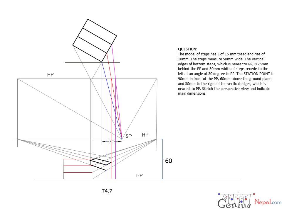 Engineering Drawing Tutorials  Perspective Drawings With