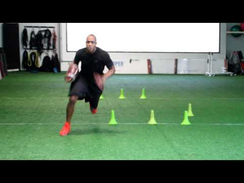 "Andre ""bubba"" Caldwell football specific agility drill"