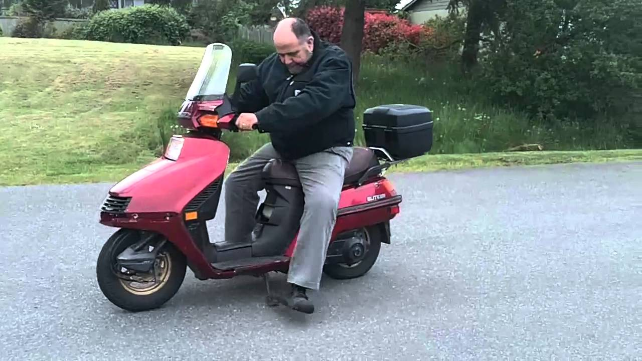 1987 Honda Elite 250 Youtube