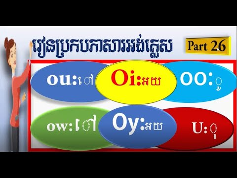 how to learn/study English spelling in khmer and English part 26,របៀបរៀនប្រកបភាសារអង់គ្លេស ភាគទី ២៦