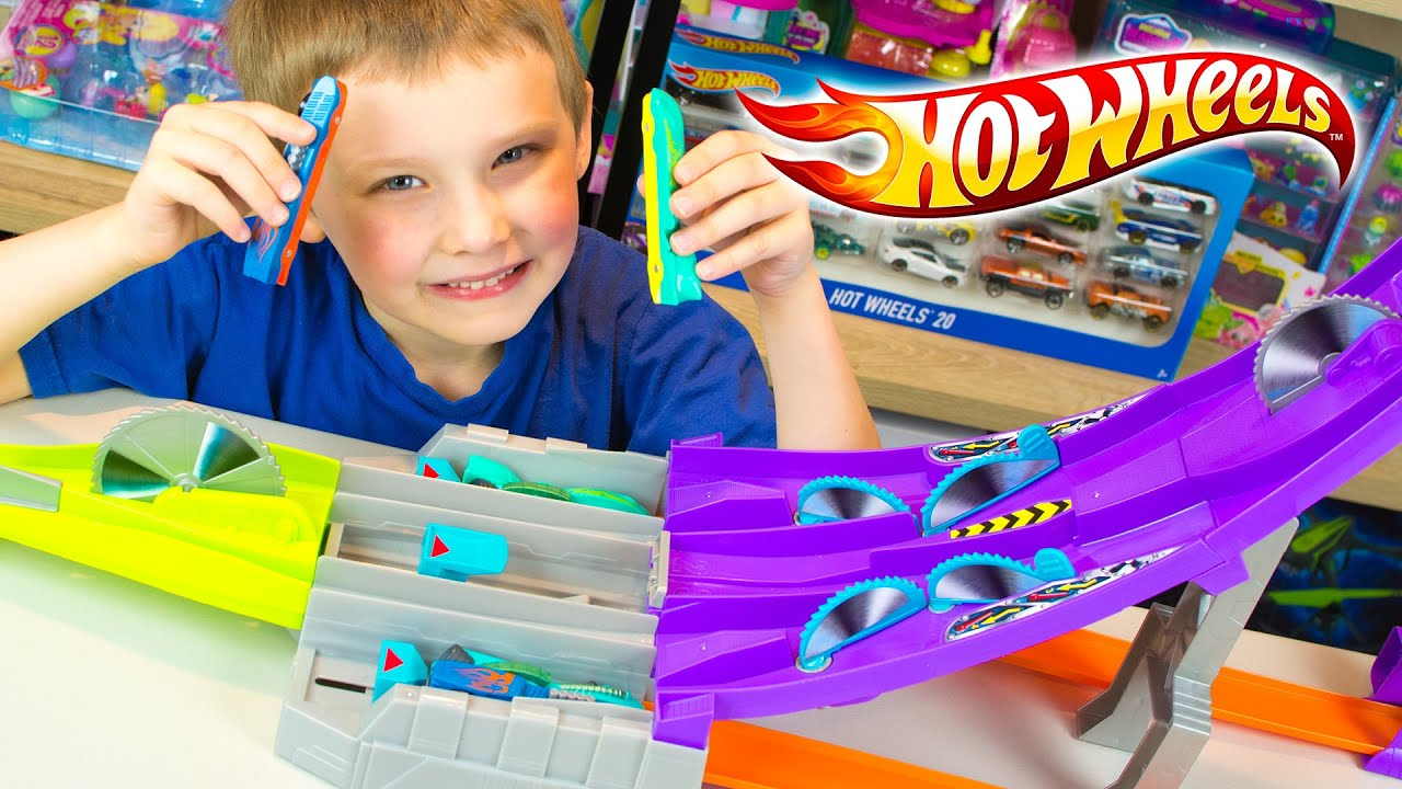 Hot Wheels Split Speeders Toy Cars For Children Blade Raid