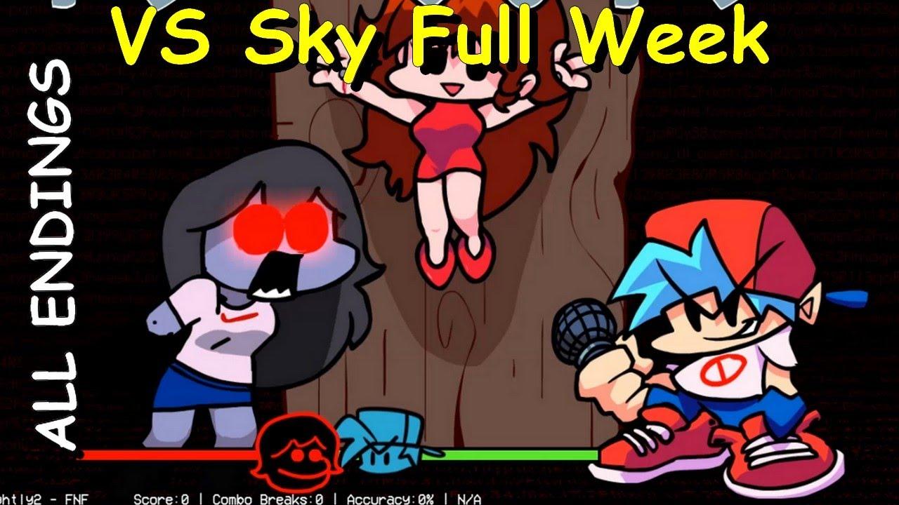 Download VS Sky Full Week [ALL ENDINGS / BOT] - Friday Night Funkin Mod