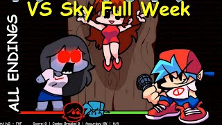 VS Sky Full Week [ALL ENDINGS / BOT] - Friday Night Funkin Mod