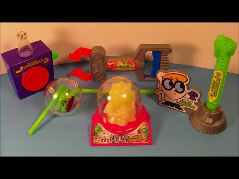 1997 CARTOON NETWORK DEXTER'S LABORATORY SET OF 5 WENDY'S KID'S MEAL TOY'S VIDEO REVIEW