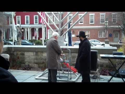 Public Menorah lighting at Blair County Courthouse by Chabad Lubavitch Jewish Center