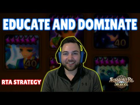 EDUCATE AND DOMINATE : RTA STRATEGY / ANALYSIS - Pick and Ban Phase with Tdins | Summoners War