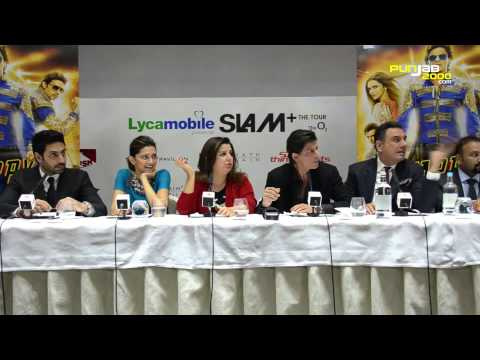 Happy New Year Film & Slam! the Tour - press conference in London