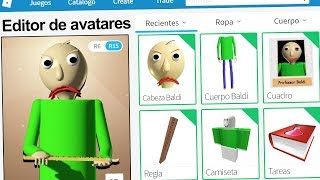 created the profile of BALDI in ROBLOX! | Rovi23 Roblox