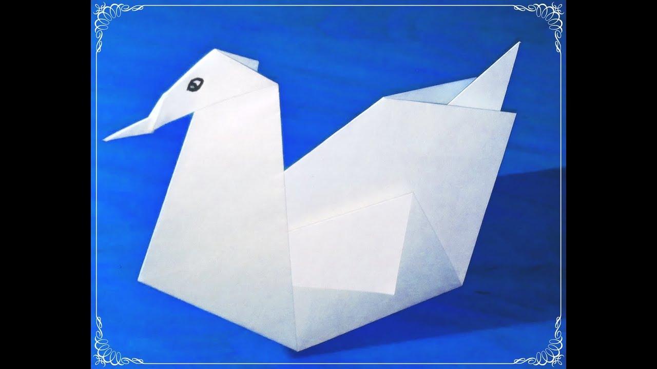 Origami como hacer un cisne de papel manualidades - Youtube manualidades de papel ...