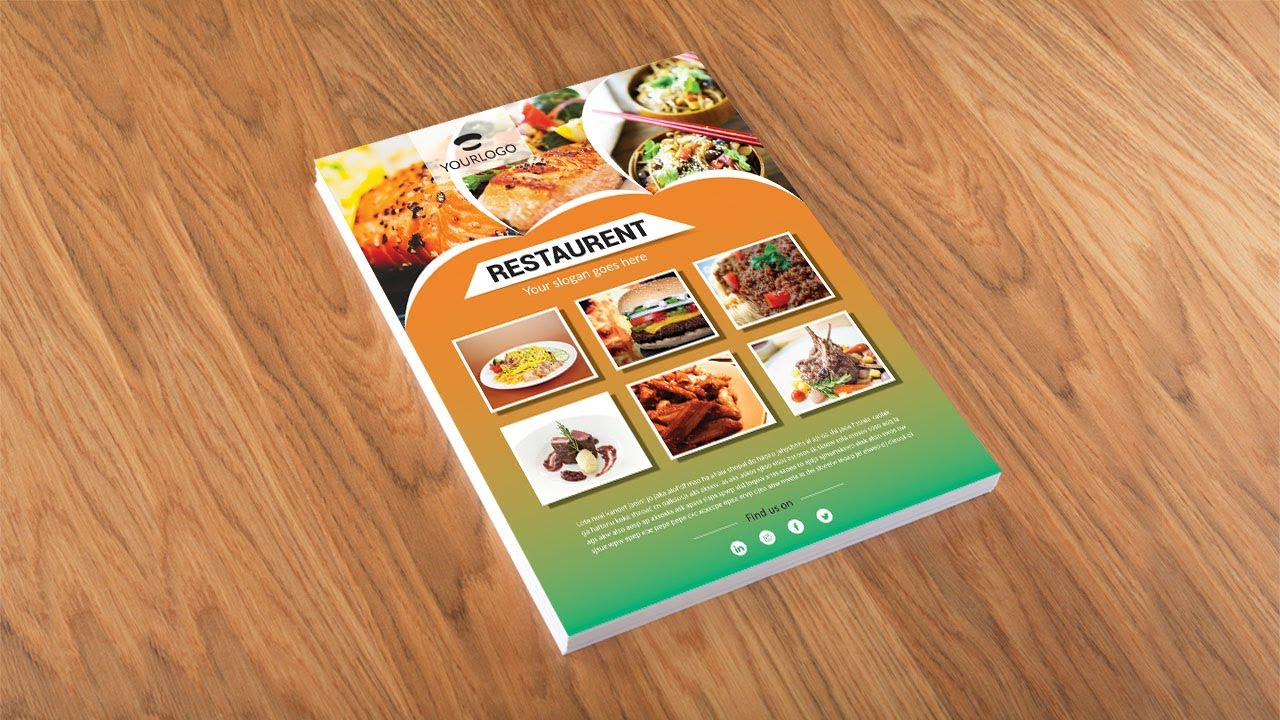 Super Illustrator tutorial - Restaurant flyer design - YouTube ZN13