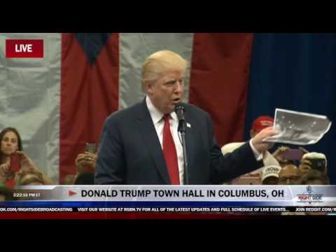 Donald Trump starts his rally railing against the fire marshal, Columbus, OH, 8/1/16