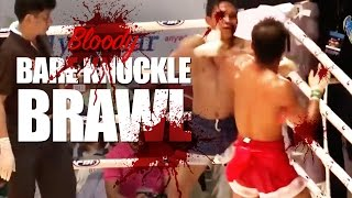 Bare Knuckle Muay Thai Match Turned to a BLOODY BRAWL