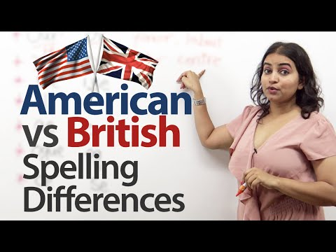 British vs. American English - Spelling Differences - Free English Lesson
