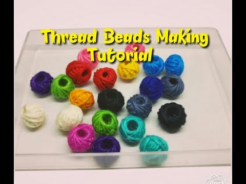 How to make cotton thread beads at home...