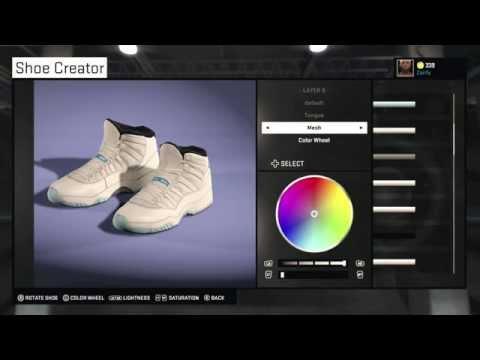 "NBA 2K15 Shoe Creator - Air Jordan 11 ""Legend Blue / Columbia"""