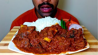 SPICY BEEF MEAT CURRY || CHILLI || ONION || RICE EATING SHOW||#HungryPiran